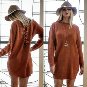 HOST PICK 11/19 New Lace Up Sweater Tunic/Dress